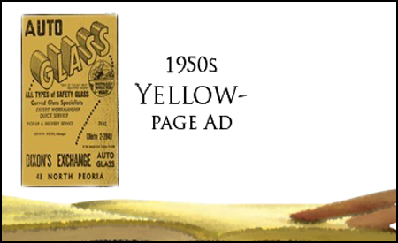 Dixon Auto Glass Yellow Page Ad