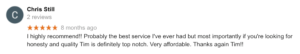 Chris Still Dixon Auto Glass review